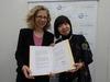 IUCN国際自然保護連合・親善大使の継続調印式が行われました。